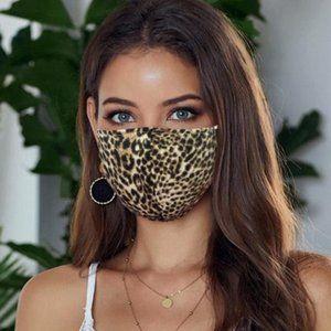 Leopard Face Mask Brown Cheetah Anti-pollution USA